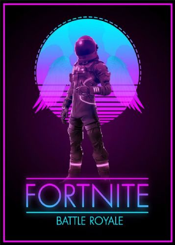 GAMES - FORTNITE GLOW POSTER PORTRAIT canvas print - self adhesive poster - photo print